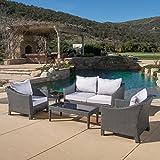 Caspian 5 Piece Outdoor Wicker Furniture Patio Chat Set