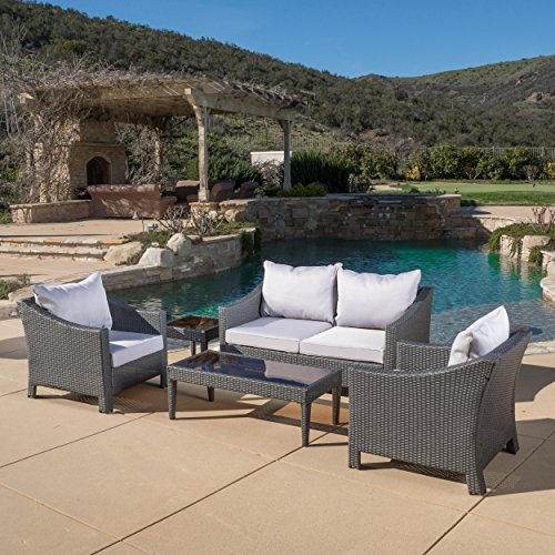 Caspian 5 Piece Outdoor Wicker Furniture Patio Chat Set Basic Facts
