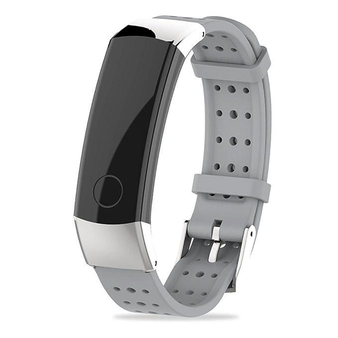 ❀para el Reloj Inteligente Huawei Honor 3, Banda de Pulsera de Silicona Deportiva de Moda Correa de Reloj Absolute: Amazon.es: Ropa y accesorios