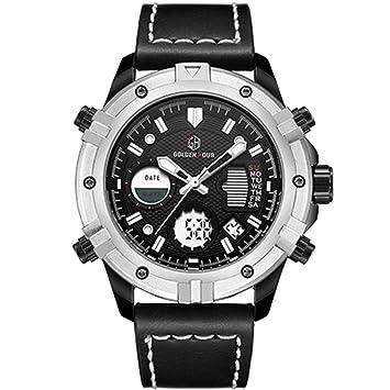 WULIFANG Nuevo Reloj De Hombre Fashion Sports Watch Watch Ejército Militar Hombre De Marca De Lujo para Hombres Reloj Digital De Cuarzo Negro Plata: ...
