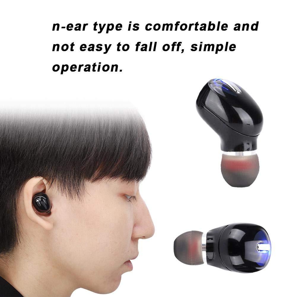 Negro ASHATA Mini Auricular inal/ámbrico Bluetooth Auriculares Sonido en o/ído Auricular Multifuncionalmente Simple y c/ómoda para Correr Auriculares Ciclismo Senderismo Yoga