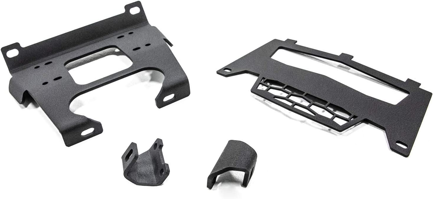Fits Machines Prior to 8//31//2014 SuperATV Heavy Duty Winch Mounting Plate for Polaris RZR 900//900 S 900 4 Seater