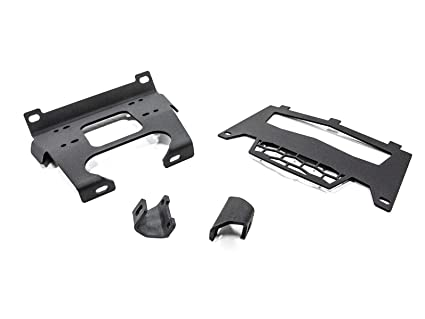 SuperATV Heavy Duty Winch Mounting Plate For Polaris RZR XP 1000 4 1000 2014 2018 Dual Mounting Bolt Patterns
