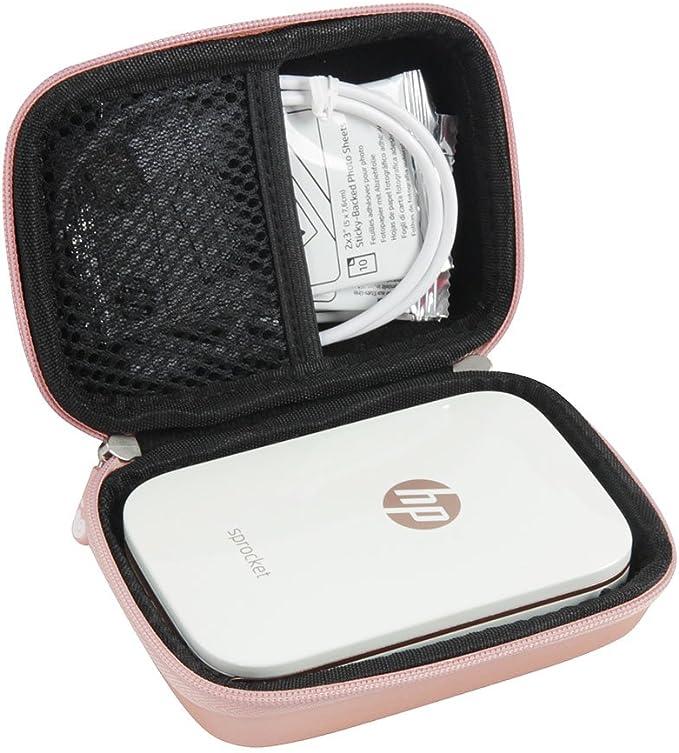 Hard EVA Travel Case for HP Sprocket Portable Photo Printer by Hermitshell (Rose Gold)