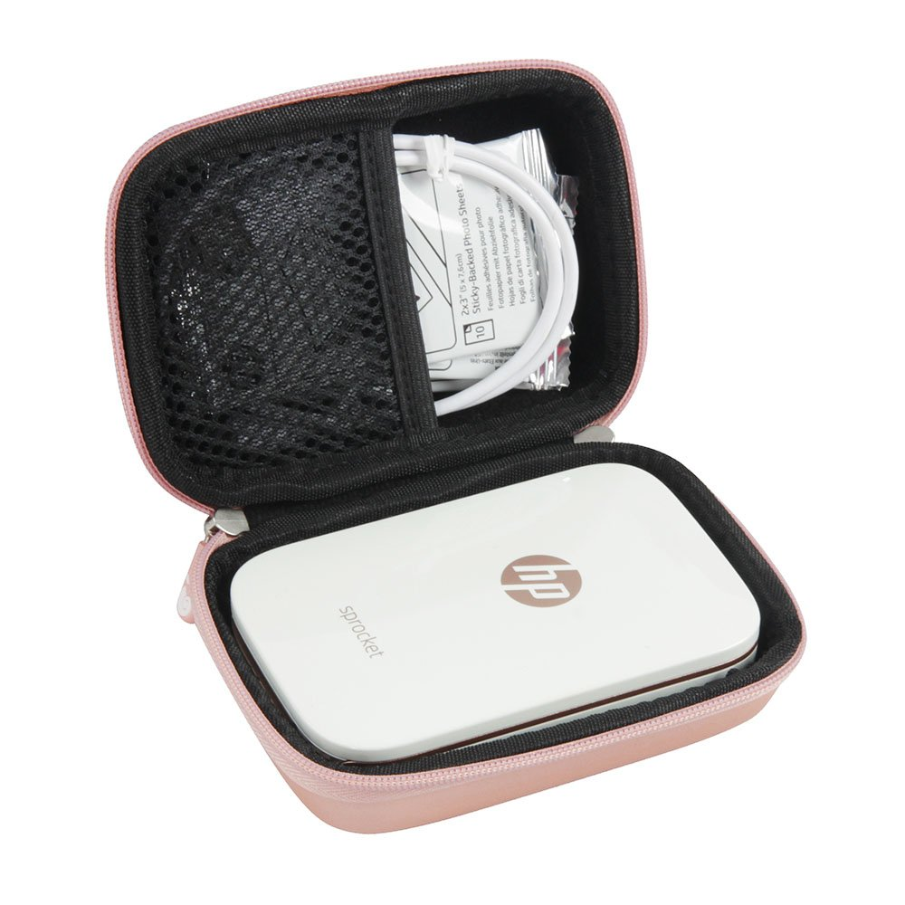 Hard EVA Travel Case for HP Sprocket Portable Photo Printer by Hermitshell (Rose Gold)