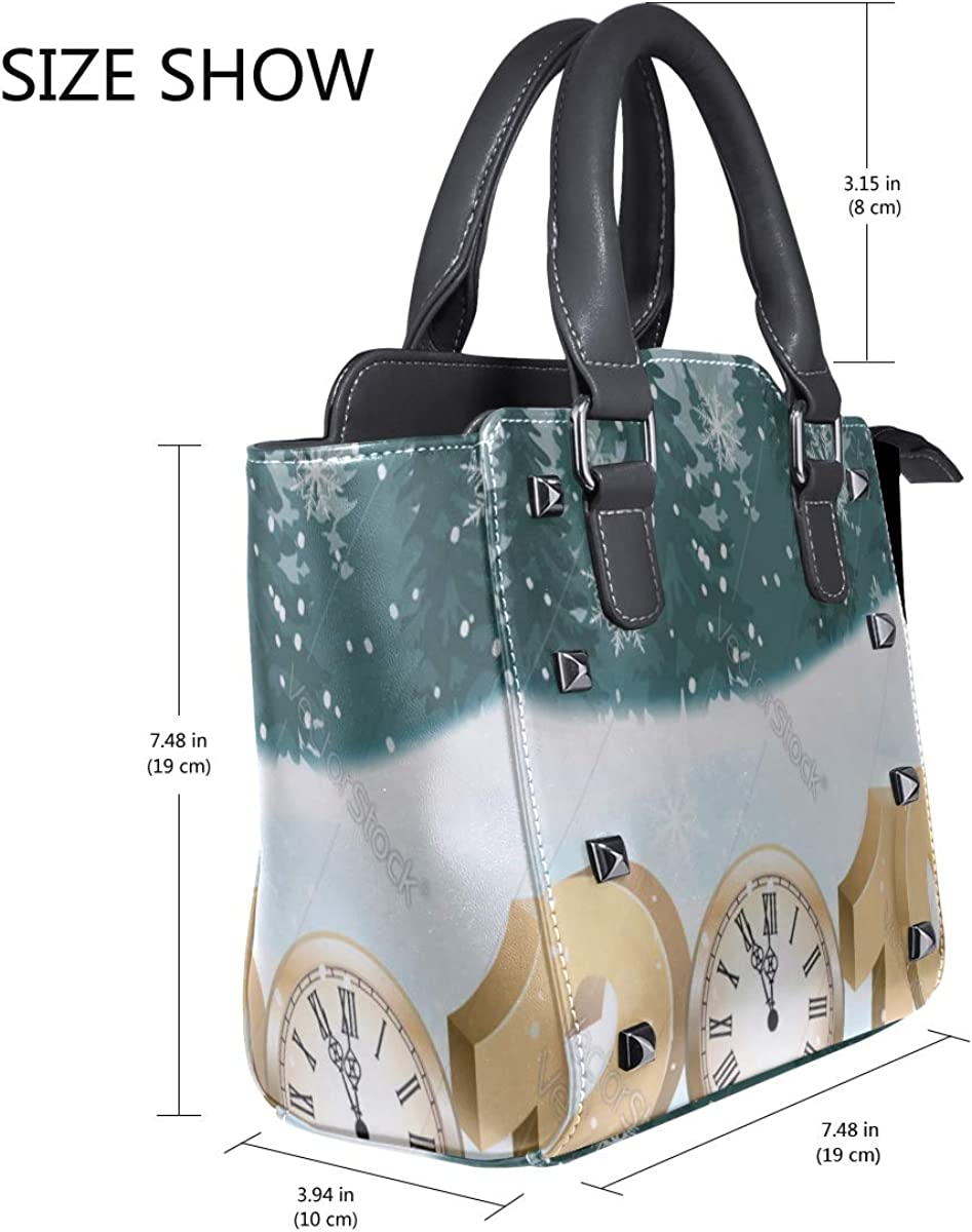 Sports Clutch Bag Merry Christmas With Custom Handle Purses Pu Leather Rivet Portable Fashion Printing Waterproof With Zipper Hand And Shoulder Bags