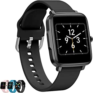 FromPRO Fitness Tracker Heart Rate Monitor,Smart Watch for Android Phones,Activity Tracker with Full Touch Screen,Step Counter, Blood Pressure Pedometer for Walking for Women and Men&Kids