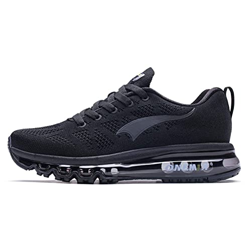 competitive price 88547 79dfd OneMix Men s Air Breathable Trainers Lightweight Sports Running Shoes Black  Size 6 UK