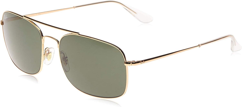Ray-Ban Rb3611 Metal Square Sunglasses