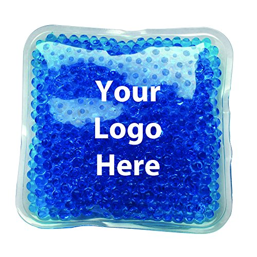 "Gel Bead Hot/Cold Pack - 125 Quantity - $1.15 Each - PROMOTIONAL PRODUCT / BULK / BRANDED with YOUR LOGO / CUSTOMIZED Size: 4"" W x 4"" H."