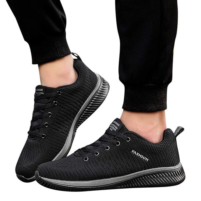 Bestow Calzado Casual con Cordones para Hombre Zapatillas de Deporte Transpirables Zapatillas Deportivas Sneakers Running Shoes