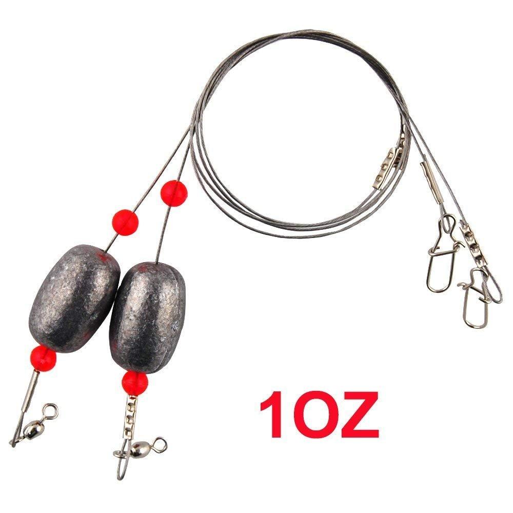 2019年最新入荷 Shaddock釣り12個/ロットステンレススチール釣り引出線ワイヤリグトレースwithスナップSwivels、ビーズ、腕、釣りEgg Sinkerリグ魚タングステンLeadersリギング B01K3VI1PQ B01K3VI1PQ 0.75oz-8 0.75oz-8 Pack, 名和町:2d93ca5b --- a0267596.xsph.ru