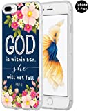 Iphone 7 Plus Case Christian Quotes, Hungo Apple Iphone 7 Plus Case Soft Tpu Silicone Protective God Is Within Her She Will Not Fall Psalm Bible Verse Songs Rubber