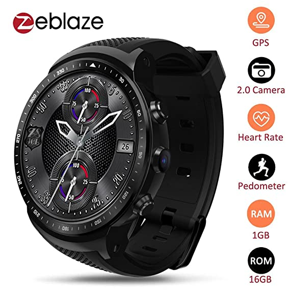 Zeblaze Thor PRO 3G GPS WiFi Smartwatch Android 5.1 MTK6580 Quad Core 1GB 16GB 2.0 MP GPS WiFi Smartwatch Android 5.1 MTK6580 Quad Core 1GB 16GB 2.0 ...
