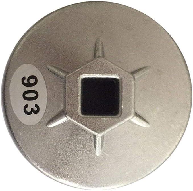 Aluminio 903 filtro de aceite n/úcleo llave de tubo 74MM