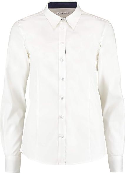 Kustom Kit Mujer / Mujer Manga Larga Contraste PREMIUM Camisa Oxford: Amazon.es: Ropa y accesorios