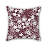 NICEPLW throw pillow case of geometry 18 x 18 inches / 45 by 45 cm,best fit for bedroom,deck chair,monther,her,couples,office both sides