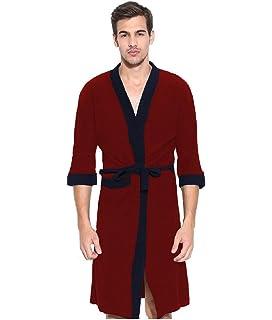 Elevanto Premium Collection 3 4Th Sleeve Terry Cotton Bathrobe-Free  Size-Men( bf3b4900a