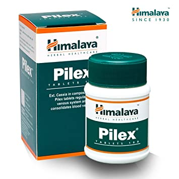 Himalaya Herbals Pilex - Tratamiento Natural para Hemorroides y Almorranas, Tratamiento de Fisura, Alivio del Dolor, Tabletas sin Gluten, 100 Cápsulas