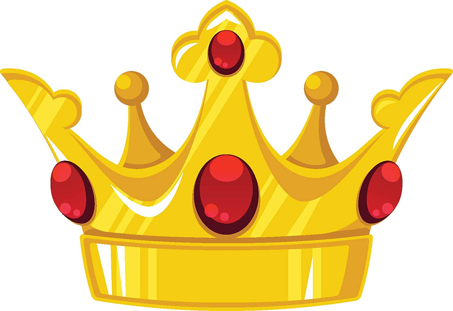 Amazon Com Pretty Classic Golden Yellow Royal Crown Cartoon Emoji Vinyl Sticker 12 Wide Red Jewels Automotive Filmed & edited by final cut multimedia. royal crown cartoon emoji vinyl sticker