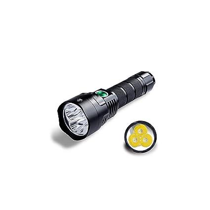 21700 Version Powerful Flashlight Triple Reflector Xpl