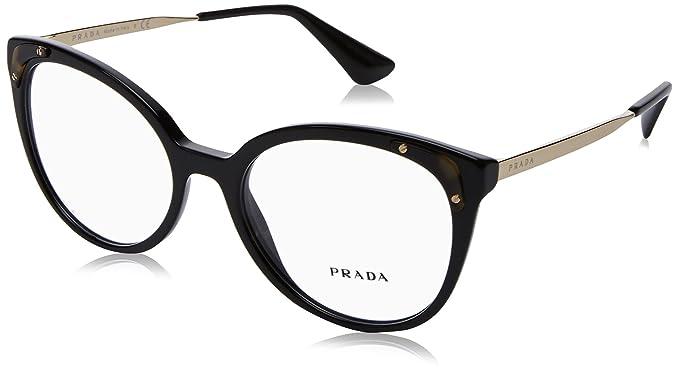 4b7f40c9da65 Prada Women's PR 12UV Eyeglasses 51mm at Amazon Women's Clothing store: