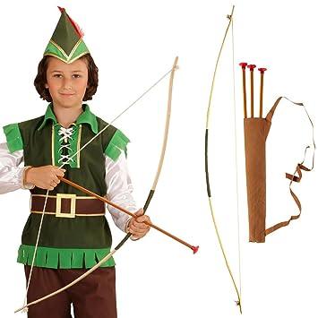NET TOYS Flecha y Arco para niños Set Robin Hood carcaj Chicos ...