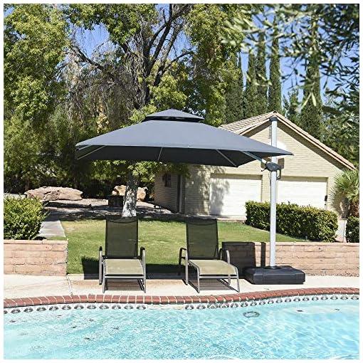 Garden and Outdoor PURPLE LEAF 10ft Patio Umbrella Outdoor Square Umbrella Large Cantilever Umbrella Windproof Offset Umbrella Heavy Duty… patio umbrellas