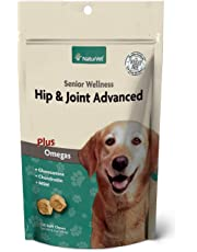 Senior Wellness Hip & Joint Soft Chew Supplement for Dogs with Omegas for Advanced Joint Support by NaturVet