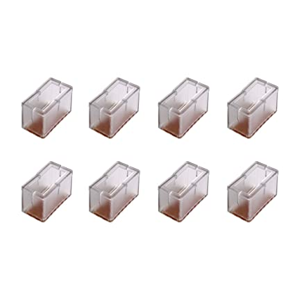 Attrayant Andux 8Pcs/Set Rectangle Bottom Silicone Wood Floor Protectors Chair Leg  Caps Furniture Feet Pads