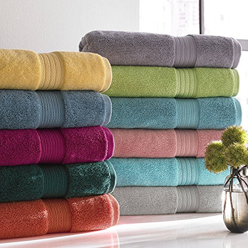 Spring Bliss Collection 6 Piece Bath Towel Set Super Soft & Luxurious 100% Egyptian Cotton - Available in Various Colors & Embroidery Styles by Luxor Linens by Luxor Linens (Image #1)