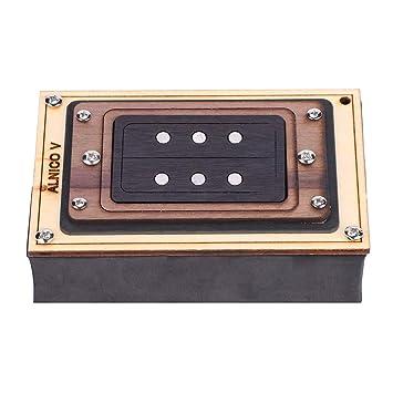 Dilwe Guitarra Humbucker Pickup, Palo de Rosa Marco 3 Cuerdas Humbucker Pickup ALNICO V Magnet Pickup para Box Guitar DIY Accesorios Piezas: Amazon.es: ...