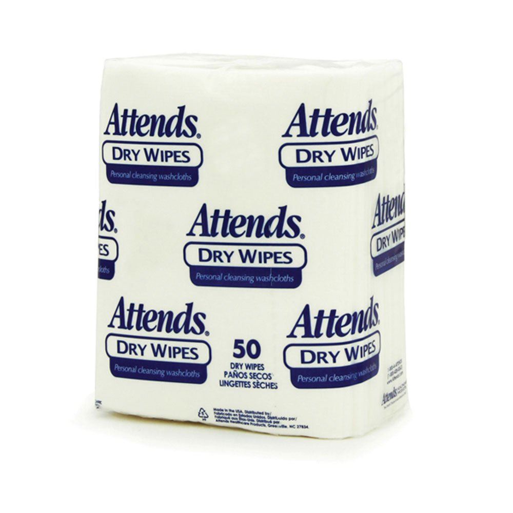 Attends 2500 Dry Wipes, Heavy Weight, 10'' x 13'' (Pack of 1000) by Attends