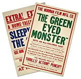 """SET of TWO (2) MOTION PICTURE POSTERS by Norman Film Manufacturing circa 1915 vintage GREEN EYED MONSTER & SLEEPY SAM - each measure 36"""" high x 24"""" wide (915mm high x 610mm wide)"""