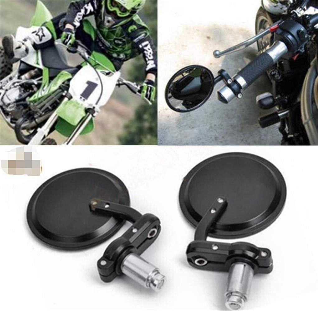 1pair Moto 3 Round 7//8 poign/ée Barre r/étroviseur Fin Miroirs for Harley Honda Suzuki Yamaha Racer Bobber Moto Caf/é Universal NO LOGO Miroirs FSM Examen
