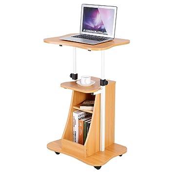 Zerone - Mesa de escritorio para ordenador portátil, altura ajustable, mesa de estudio,