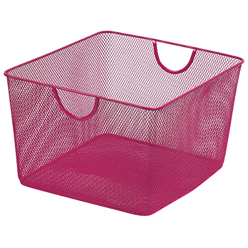 Merangue Mesh Basket Office Storage Container, Pink (1025...