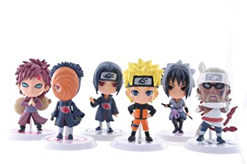 Amazon Com 6pcs Set Naruto Cute Figurine Pvc Toy Japan Anime