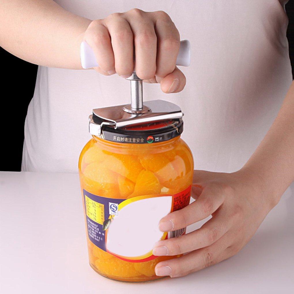 Zerama Can Opener Cucina Tappo a Vite Bottiglia Chiave Formato Libero Adattarsi a Qualsiasi lattine in Acciaio Inox Barattolo di Latta apribottiglie Opener cap