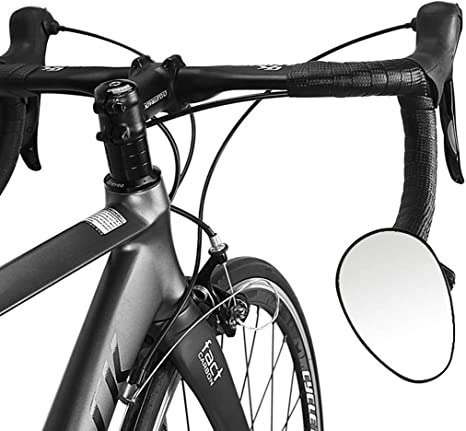 wishing Espejo Retrovisor Bicicleta, Espejo de Barra con Extremo de Barra Espejo Convexo Bici Ciclismo Espejos Retrovisores Manillar Giratorio Ajustable (1 Piezas): Amazon.es: Deportes y aire libre