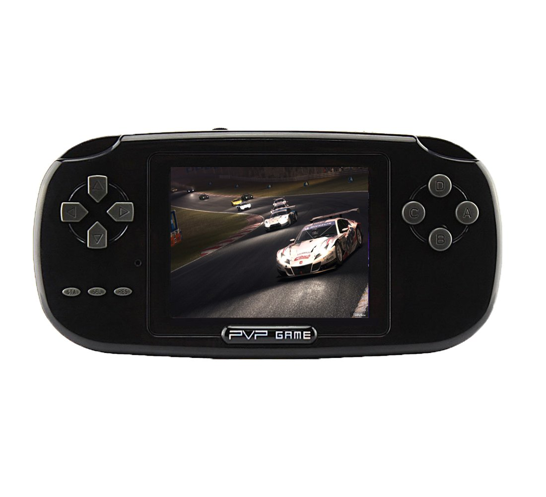 Handheld Game Console, Game Console 2.8'' 168 Games LCD PVP Game Player Classic Game Console,Good Gifts For Children,For Kids to Adult. (Black)