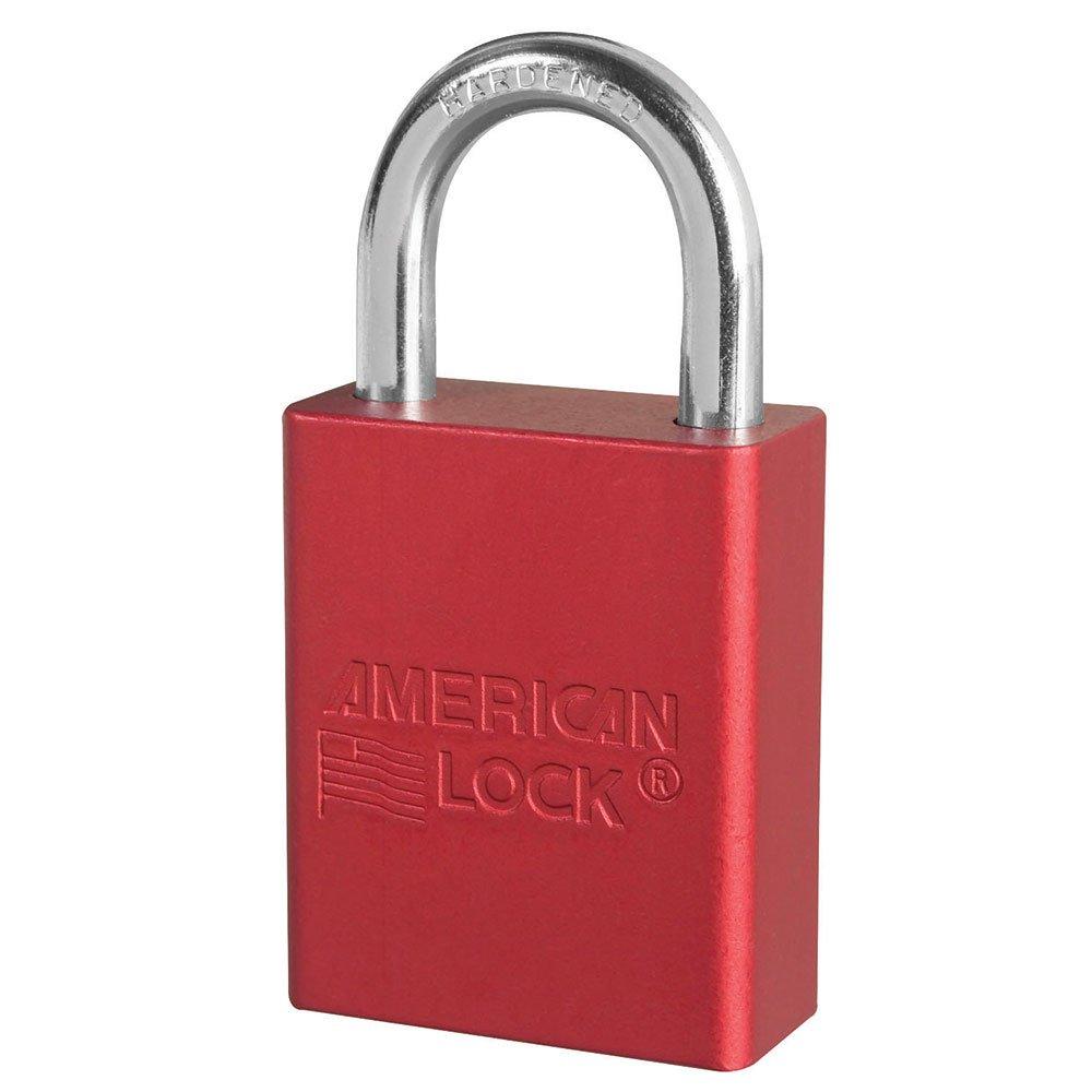 5 Pin Red Safety Lock-Out Padlock Keyed Alike
