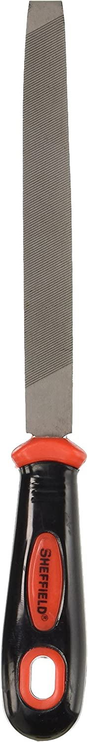 Sheffield 58913 6 Inch Mill Bastard File | Sharpens Any Blade – Knives, Axes, Mower Blades, Etc. | Single-Cut Mill Pattern | Quickly Smooth Rough Surfaces | Comfortable Handle, Good for Extended Use, Multi