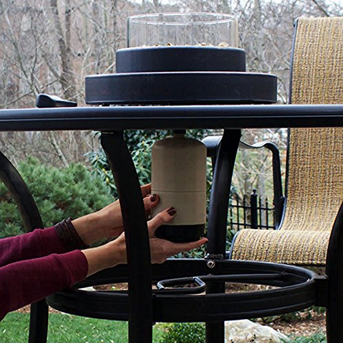 (Endless Summer 14-in W 6,000-BTU Oil-Rubbed Bronze Portable Tabletop Steel Liquid Propane Gas Firebowl)