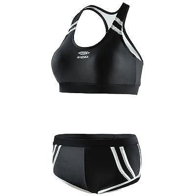 AXESEA Women Sporty Two-Piece Racerback Boyshort Bathing Suit Bikini Sets