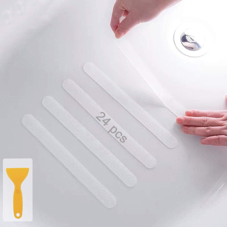 20Pcs Safety Non Slip Applique Adhesive Sticker Bathtub Treads Decals Shower Mat