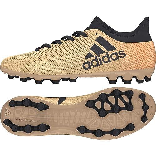 new concept a20f4 78892 adidas X 17.3 AG, Scarpe da Calcio Uomo, Oro Tagome Cblack Solred