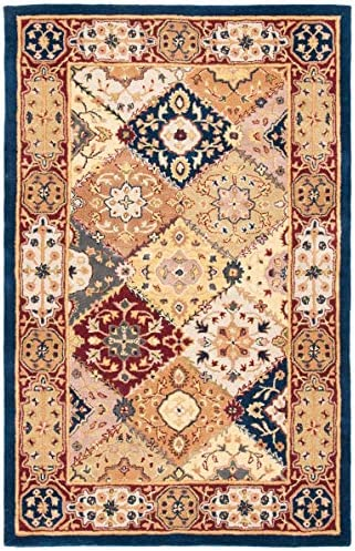 Safavieh Heritage Collection HG512B Handcrafted Traditional Oriental Multi and Red Wool Area Rug 11 x 15