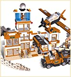 755 pcs Military Series Army Armoured Car Helicopter Weapon Building Block Sets Educational DIY Bricks Toys legoe compatible