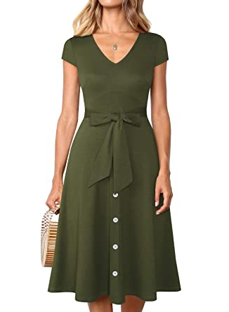 A-Line Dress with Belt
